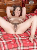 Dazzling nude solo scenes with a hairy wife in heats